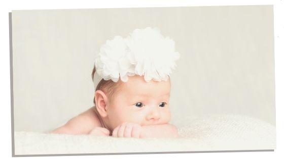 baby girl with headband
