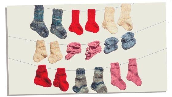 Baby socks maternity hospital bag