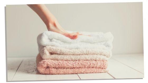 Bath towel to pack into hospital bag