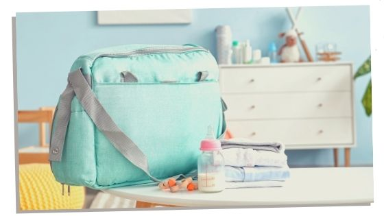 The diaper bag is a part of the second pregnancy checklist